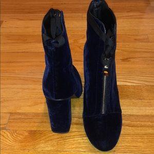 Zara Velvet Dark Blue boots size 40